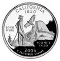 California quarter, reverse side, 2005.png