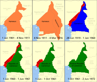 British Cameroons - Image: Cameroon boundary changes