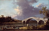 Canaletto (Giovanni Antonio Canal) - A View of Walton Bridge - Google Art Project.jpg