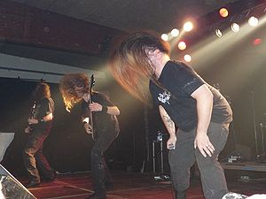 Death metal - Death metal band Cannibal Corpse performing in 2009.