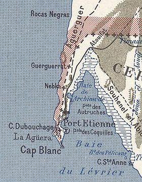 Carte du cap Blanc, aujourd'hui râs Nouâdhibou (1958)