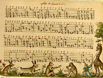 1520s in music - Folio 47r from the Capirola Lutebook: Padoana alla Francese