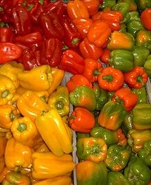 Peperoni assortiti dal Messico