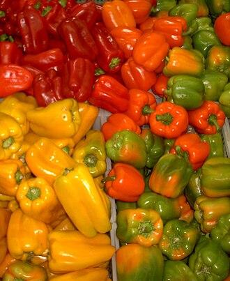 Bell pepper - Image: Capsicum 1