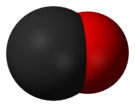 Schéma molekuly oxidu uhelnatého