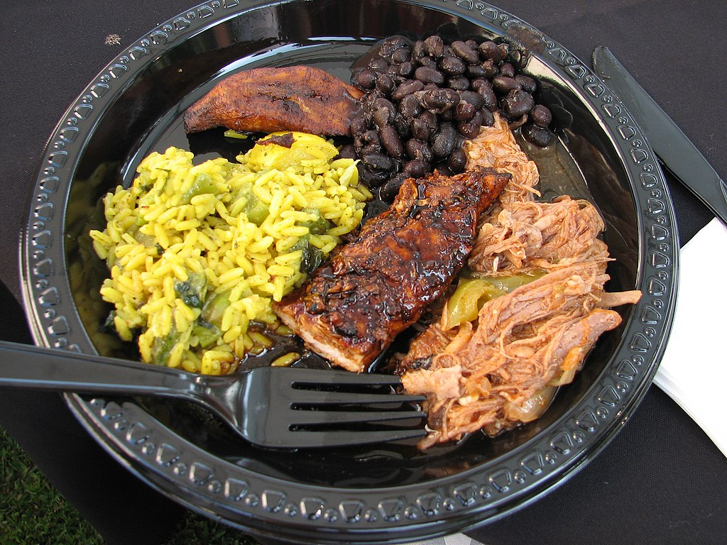 Caribbean dinner plate