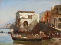 Carl Frederik Sørensen - Kystparti fra Massa, Italien - 1864.png