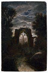 Les Ruines de l'abbaye de Netley au clair de Lune