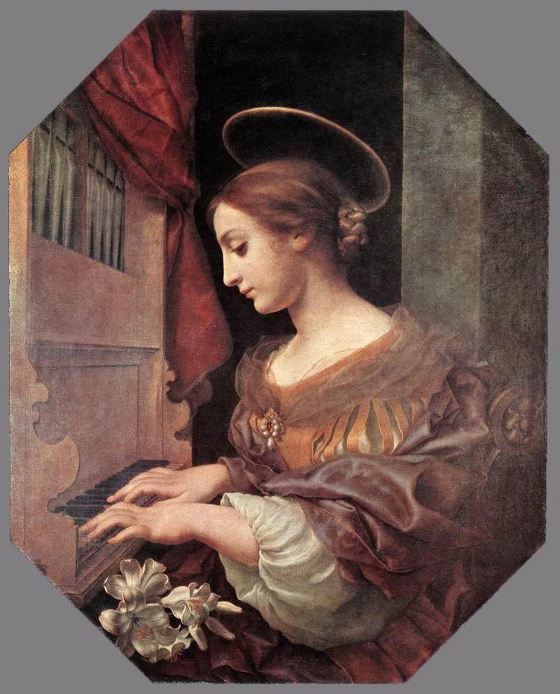 Карло Дольчи - Святая Сесилия у органа - WGA06373.jpg