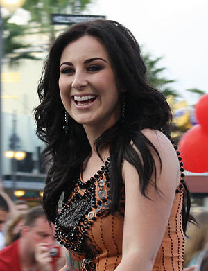 Carly Smithson - Smithson in the American Idol Experience motorcade at Walt Disney World in 2009.