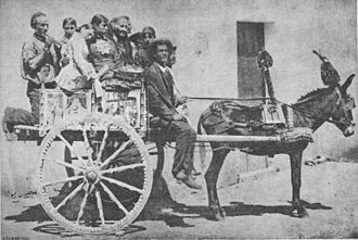 Sicilian cart - A Sicilian working cart in a picture from 1890