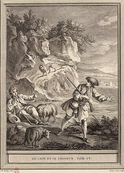 File:Cars-Oudry-La Fontaine-Le lion et le chasseur.jpg