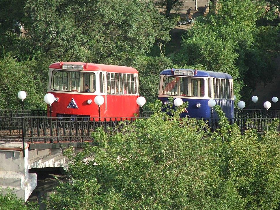 Cars of the Vladivostok funicular
