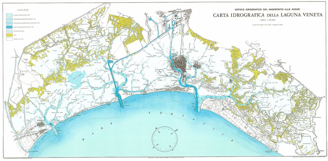 Cartina Idrografica Veneto.File Carta Idrografica Della Laguna Veneta 1975 Jpg Wikipedia