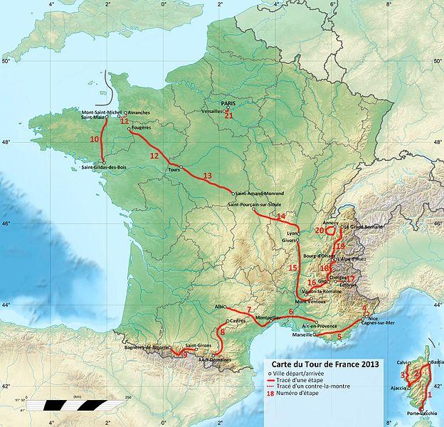 Fájl:Carte du TDF 2013.jpg
