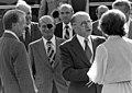 Carter, Dayan, Begin, and Mrs. Carter at Camp David, September 5, 1978 (10729499406).jpg