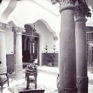 Casa Trinxet - A courtyard  of the Casa Trinxet.