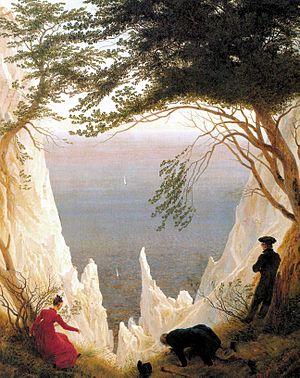 Wanderer above the Sea of Fog - Chalk Cliffs on Rügen