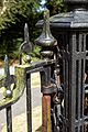 Cast iron church gate hinge at Monkton Kent England.jpg
