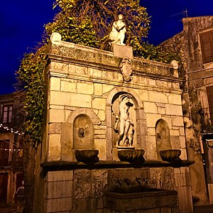 Castelbuono - Fountain of Venere Ciprea.