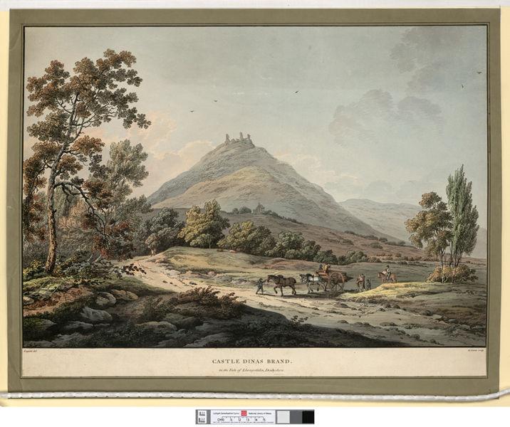 File:Castle Dinas Brand, in the vale of Llangothlin, Denbyshire.jpeg