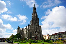 "Nossa Senhora de Lourdes Cathedral in Canela, also known as Cathedral of Stone (""Catedral de Pedra"" in Portuguese)"