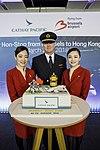 Cathay Pacific inaugural flight to Hong Kong (39215192560).jpg