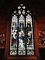Cathedral of the Immaculate Conception (Albany, New York) - interior, stained glass, Christ washes the Apostles' feet.jpg