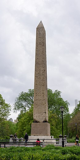Cleopatra's Needle, the park's oldest manmade structure Central Park New York May 2017 004.jpg