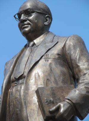 Dr. Babasaheb Ambedkar Marathwada University - Central statue of Dr Babasaheb Ambedkar in Dr. Babasaheb Ambedkar Marathwada University.