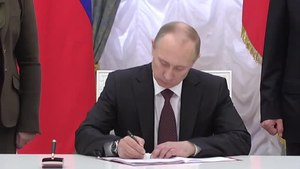 File:Ceremony signing the laws on admitting Crimea and Sevastopol to the Russian Federation.webm