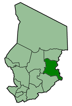 Location of Ouaddaïوداي