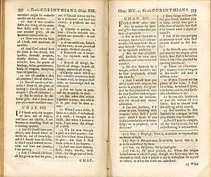 Challoner's 1749 revision of the Rheims New Te...