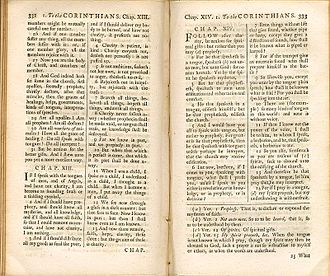 Douay–Rheims Bible - Challoner's 1749 revision of the Rheims New Testament borrowed heavily from the King James Version.