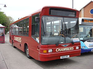 Chambers (bus company) - Marshall Capital bodied Dennis Dart in Sudbury in May 2007