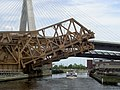 Charles River Bridges with both spans partly raised - from west (2006).jpg