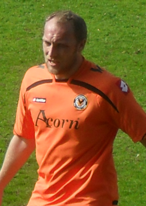 Charlie Griffin - Griffin playing for Newport County in 2011
