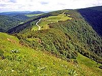 Chaume Ferchmuss et route des crêtes, vus du Rainkopf. 27-06-08.jpg