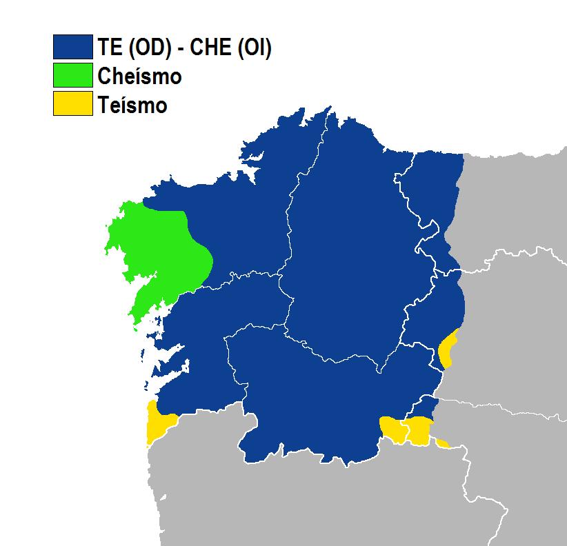 Cheísmo-teísmo idioma gallego