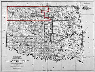 Ponca City, Oklahoma - Ponca City was founded after the United States opened the Cherokee Outlet for European-American settlement in the Cherokee Strip land run, the largest land run in United States history.