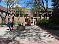 Cherry picker in pedestian courtyard SW of Sherbourne and Front, 2015 05 22 (1) (17392446653).jpg
