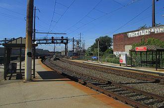 North Philadelphia station - Platforms for the Chestnut Hill West Line