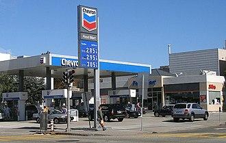 Chevron Corporation - Chevron gas station design used until 2006