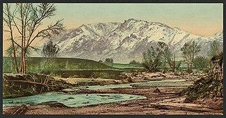Cheyenne Mountain - Image: Cheyenne Mountain, Colorado LCCN2008676336
