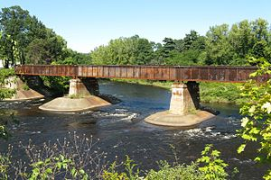 Three Rivers, Massachusetts - Confluence of Ware and Quaboag rivers forming the Chicopee River