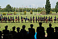 Chief of Staff of the U.S. Army Gen. Raymond T. Odierno, foreground third from right, and Italian Army officers conduct a display of cavalry maneuvers in honor of Odierno at the Tor di Quinto military hippodrome 130502-A-AO884-461.jpg