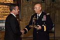 Chief of Staff of the U.S. Army Gen. Raymond T. Odierno, right, presents 9-11 Memorial and Museum President and CEO Joseph C. Daniels with a statue as a token of appreciation during a tour of the 9-11 Museum 140904-A-NX535-046.jpg