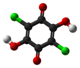 Ball-and-stick model of chloranilic acid