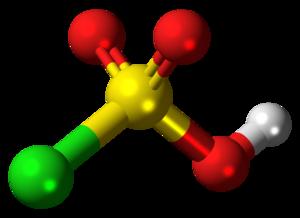 Chlorosulfuric acid - Image: Chlorosulfuric acid molecule ball