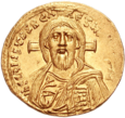 Solidus depicting Christ Pantocrator, a common motif on Byzantine coins.ของจักรวรรดิไบแซนไทน์